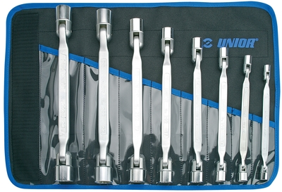 202/1CT Set chei tubulare dublu articulate 9 pcs Unior - Scule Auto Unior Tepid